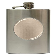 Pattern Ornament Brown Background Hip Flask (6 Oz) by Simbadda