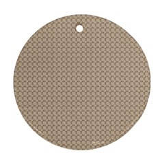 Pattern Ornament Brown Background Round Ornament (two Sides) by Simbadda