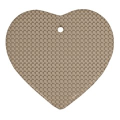 Pattern Ornament Brown Background Heart Ornament (two Sides) by Simbadda