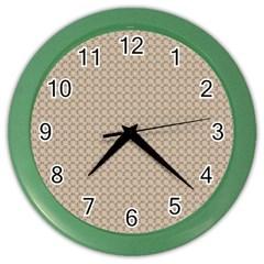 Pattern Ornament Brown Background Color Wall Clocks by Simbadda