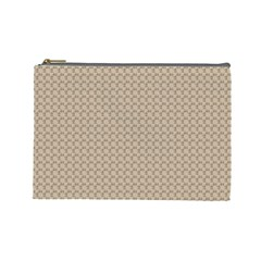 Pattern Ornament Brown Background Cosmetic Bag (large)  by Simbadda
