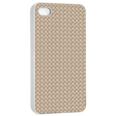 Pattern Ornament Brown Background Apple Iphone 4/4s Seamless Case (white) by Simbadda