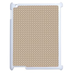 Pattern Ornament Brown Background Apple Ipad 2 Case (white) by Simbadda