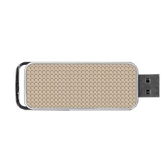 Pattern Ornament Brown Background Portable Usb Flash (one Side) by Simbadda