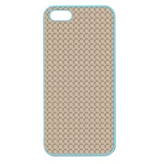 Pattern Ornament Brown Background Apple Seamless Iphone 5 Case (color) by Simbadda