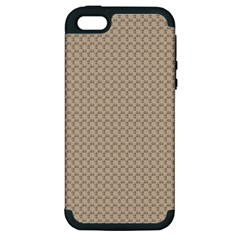 Pattern Ornament Brown Background Apple Iphone 5 Hardshell Case (pc+silicone)