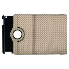 Pattern Ornament Brown Background Apple Ipad 2 Flip 360 Case by Simbadda