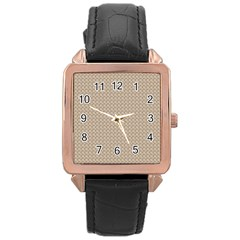 Pattern Ornament Brown Background Rose Gold Leather Watch  by Simbadda