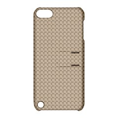 Pattern Ornament Brown Background Apple Ipod Touch 5 Hardshell Case With Stand by Simbadda