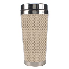 Pattern Ornament Brown Background Stainless Steel Travel Tumblers by Simbadda