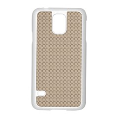 Pattern Ornament Brown Background Samsung Galaxy S5 Case (white) by Simbadda