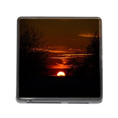 Sunset Sun Fireball Setting Sun Memory Card Reader (square) by Simbadda