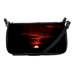 Sunset Sun Fireball Setting Sun Shoulder Clutch Bags by Simbadda