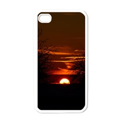 Sunset Sun Fireball Setting Sun Apple Iphone 4 Case (white) by Simbadda
