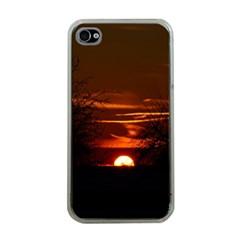 Sunset Sun Fireball Setting Sun Apple Iphone 4 Case (clear) by Simbadda