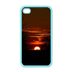 Sunset Sun Fireball Setting Sun Apple Iphone 4 Case (color) by Simbadda