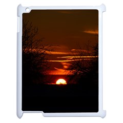 Sunset Sun Fireball Setting Sun Apple Ipad 2 Case (white) by Simbadda