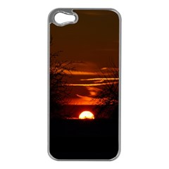 Sunset Sun Fireball Setting Sun Apple Iphone 5 Case (silver) by Simbadda