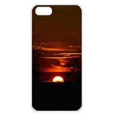 Sunset Sun Fireball Setting Sun Apple Iphone 5 Seamless Case (white) by Simbadda