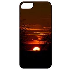 Sunset Sun Fireball Setting Sun Apple Iphone 5 Classic Hardshell Case by Simbadda