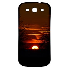 Sunset Sun Fireball Setting Sun Samsung Galaxy S3 S Iii Classic Hardshell Back Case by Simbadda