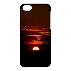 Sunset Sun Fireball Setting Sun Apple Iphone 5c Hardshell Case by Simbadda