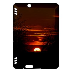 Sunset Sun Fireball Setting Sun Kindle Fire Hdx Hardshell Case by Simbadda