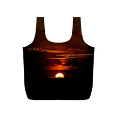Sunset Sun Fireball Setting Sun Full Print Recycle Bags (s)  by Simbadda