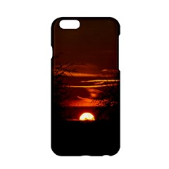 Sunset Sun Fireball Setting Sun Apple Iphone 6/6s Hardshell Case by Simbadda