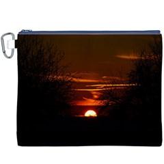 Sunset Sun Fireball Setting Sun Canvas Cosmetic Bag (xxxl) by Simbadda