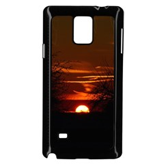 Sunset Sun Fireball Setting Sun Samsung Galaxy Note 4 Case (black) by Simbadda