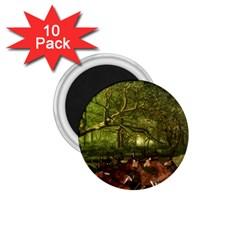 Red Deer Deer Roe Deer Antler 1 75  Magnets (10 Pack)  by Simbadda