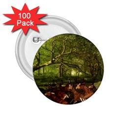 Red Deer Deer Roe Deer Antler 2 25  Buttons (100 Pack)  by Simbadda