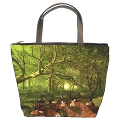 Red Deer Deer Roe Deer Antler Bucket Bags by Simbadda