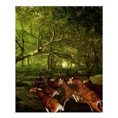 Red Deer Deer Roe Deer Antler Shower Curtain 60  X 72  (medium)  by Simbadda