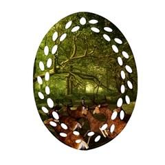 Red Deer Deer Roe Deer Antler Ornament (oval Filigree) by Simbadda