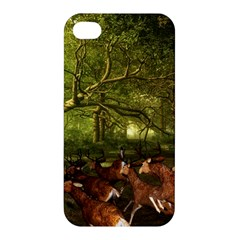 Red Deer Deer Roe Deer Antler Apple Iphone 4/4s Hardshell Case by Simbadda
