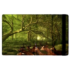Red Deer Deer Roe Deer Antler Apple Ipad 2 Flip Case by Simbadda