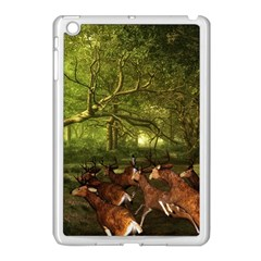 Red Deer Deer Roe Deer Antler Apple Ipad Mini Case (white) by Simbadda