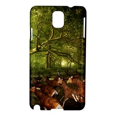 Red Deer Deer Roe Deer Antler Samsung Galaxy Note 3 N9005 Hardshell Case by Simbadda