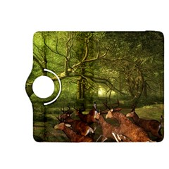 Red Deer Deer Roe Deer Antler Kindle Fire Hdx 8 9  Flip 360 Case by Simbadda
