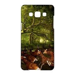 Red Deer Deer Roe Deer Antler Samsung Galaxy A5 Hardshell Case  by Simbadda