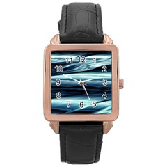 Texture Fractal Frax Hd Mathematics Rose Gold Leather Watch  by Simbadda