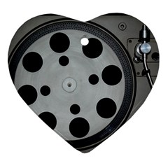 Turntable Record System Tones Ornament (heart)