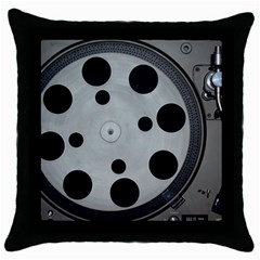 Turntable Record System Tones Throw Pillow Case (black) by Simbadda