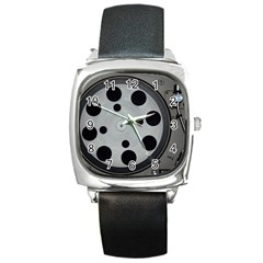 Turntable Record System Tones Square Metal Watch by Simbadda