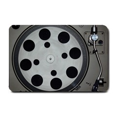 Turntable Record System Tones Small Doormat  by Simbadda