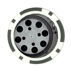 Turntable Record System Tones Poker Chip Card Guard by Simbadda