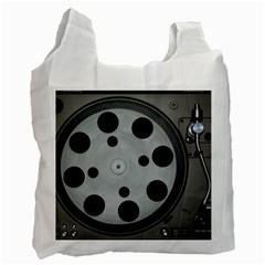 Turntable Record System Tones Recycle Bag (two Side)  by Simbadda