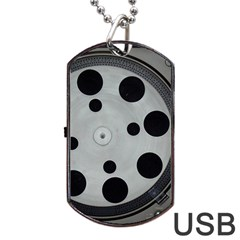 Turntable Record System Tones Dog Tag Usb Flash (one Side) by Simbadda